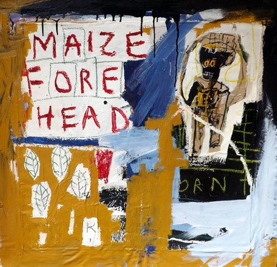 Maize Forehead - Ehoodi Kichapi - Mixed media on canvas - 95h x 100w cm