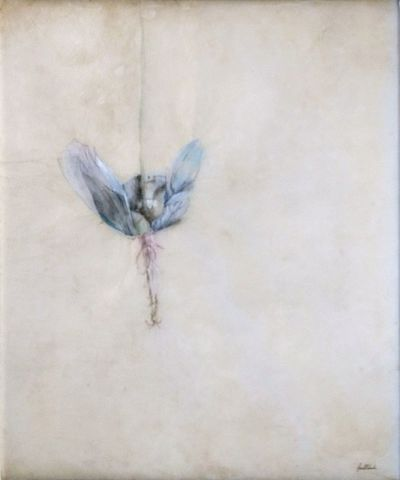 The Gentle Drop, 2017 by David Roberts - Mixed media on rice paper - 76 x 66 cm