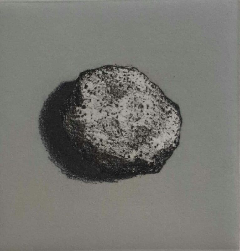 Lisa Milroy - Rock III - Etching on paper - 30h x 30w cm