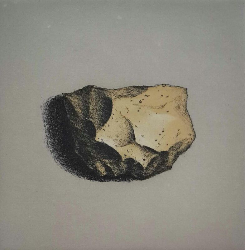 Lisa Milroy - Rock IV - Etching on paper - 30h x 30w cm