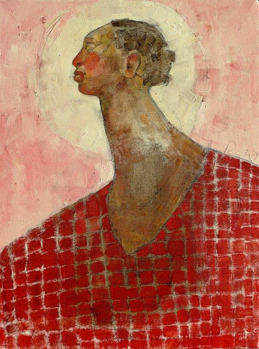 Olivia Pendergast - Maasai Mother, 2019 - Oil on canvas - 62h x 46w cm