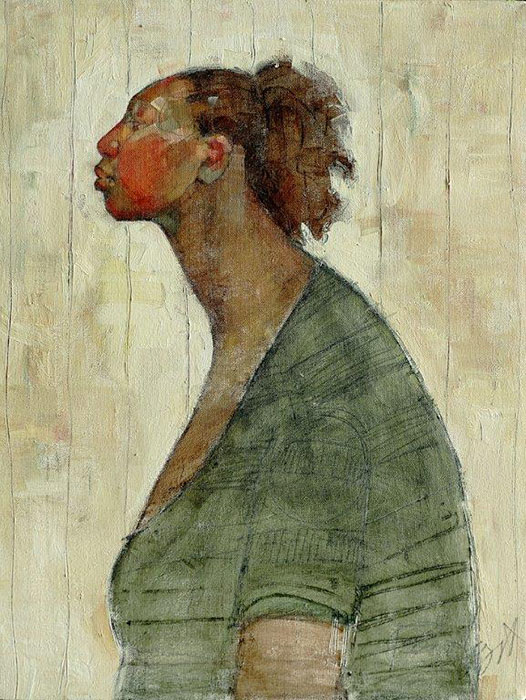 Olivia Pendergast - Mother in Profile Gachie, 2018 - Oil on canvas - 62h x 46w cm