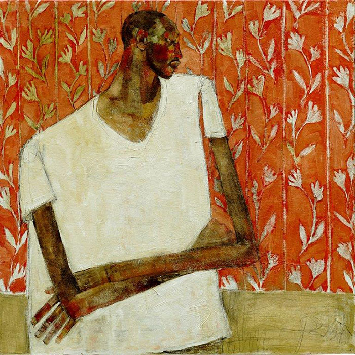 Olivia Pendergast - Roy on Red, 2018 - Oil on canvas - 92h x 92w cm