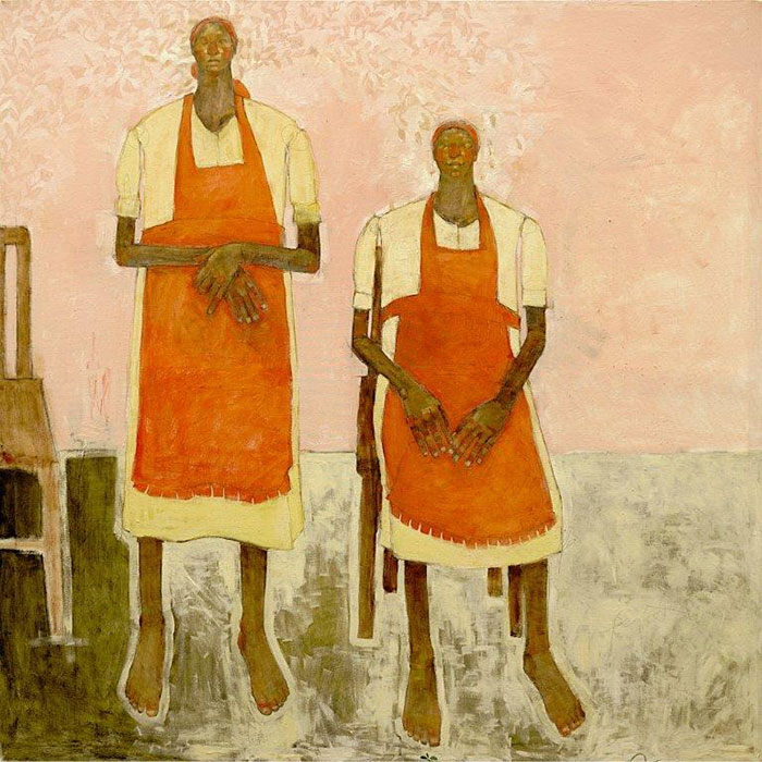 Olivia Pendergast - Two Maids, 2019 - Oil on canvas - 184h x 184w cm
