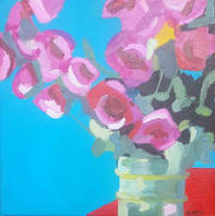 Elaine Kehew - Untitled - Acrylic on canvas - 30 x 30 cm