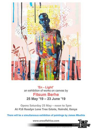 'En - light', Fitsum Berhe Exhibition Invitation
